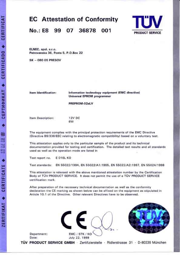 PREPROM-02aLV programmer | Elnec