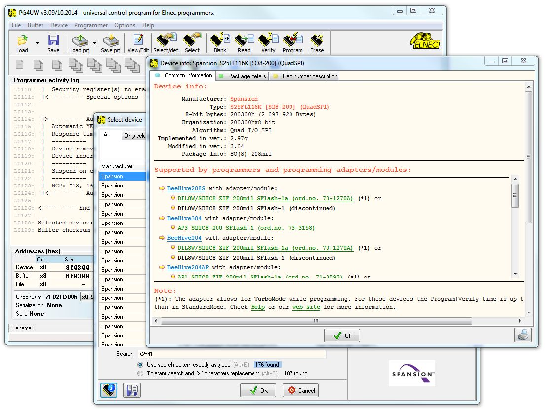 PG4UW software interface